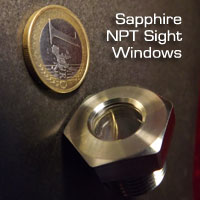 Sapphire NPT sight windows