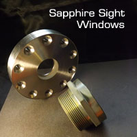 Sapphire sight windows